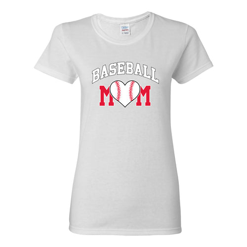 Baseball Mom - Baseball, Mom, Women, Sports, Ladies T-Shirt Basic Cotton - White