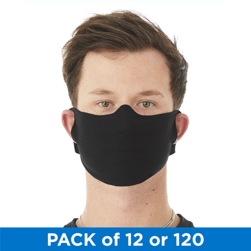 Disposable Single Use Washable Cloth Daily Face Mask - Black