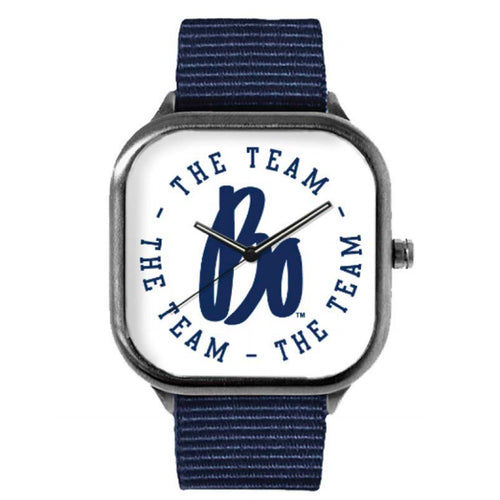 Bo The Team, The Team, The Team Circle Gunmetal Watch - Navy Band