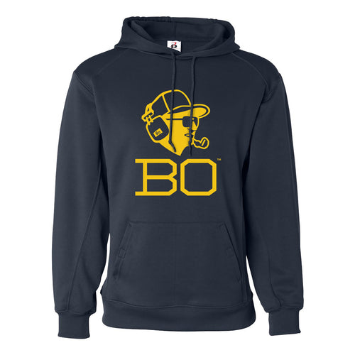 Bo Schembechler Headset Badger Performance Fleece Hoodie - Navy