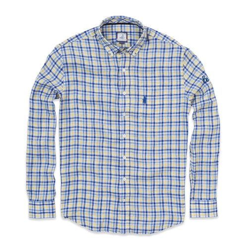Bo Sig JO Wally Linen Sport Shirt - Nautical Blue