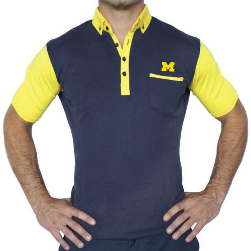 Bo Sig State and Liberty Ugli Pocket Polo - Navy/Maize