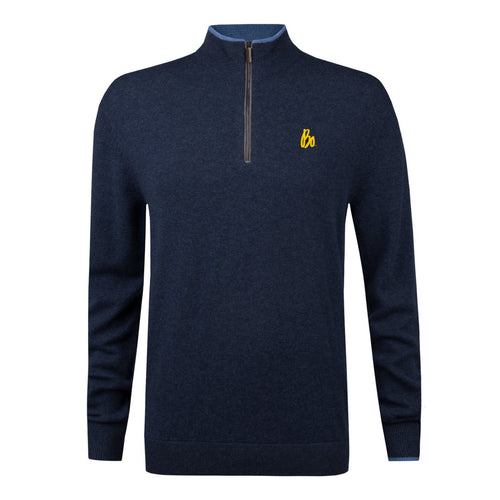 Bo Sig Greyson Sebonack QZip Sweater - Navy Heather