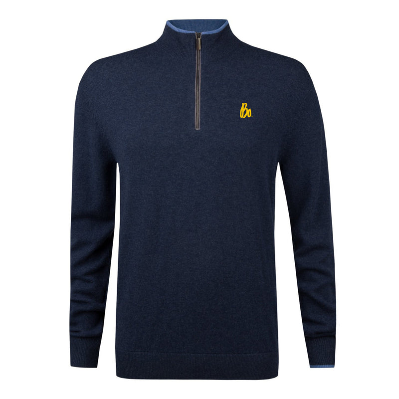 Bo Sig Greyson Sebonack Quarter-Zip Sweater - Navy Heather