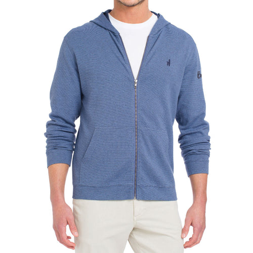 Bo Sig Johnie O Spacey Zip Front Hoodie - Pacific