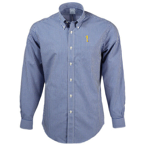 Bo Sil Brooks Brothers Gingham Sport Shirt - Navy