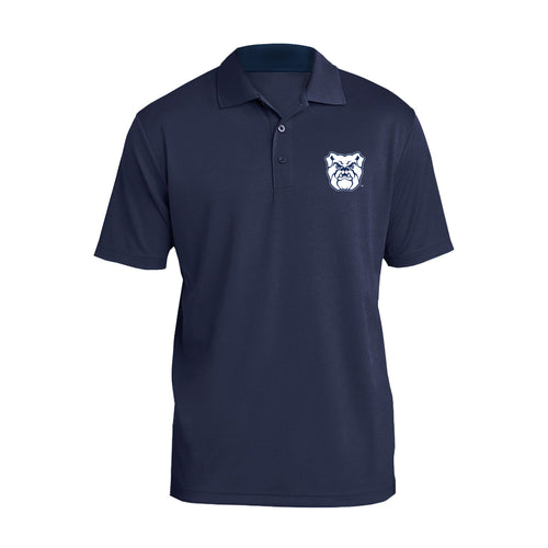 Butler University Bulldog Primary Logo Left Chest Polo - Navy