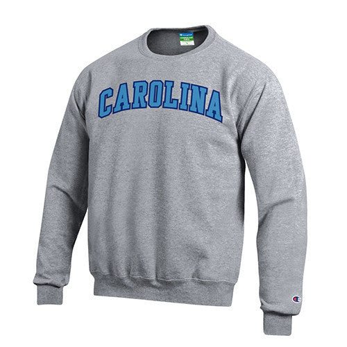 University of North Carolina Tackle Twill Power Blend Crew - Heather Grey