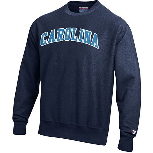 University of North Carolina Tackle Twill Reverse Weave Crew - Navy