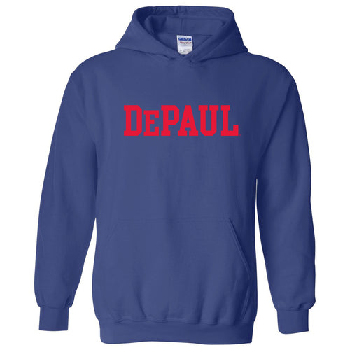 DePaul University Blue Demons Basic Block Hoodie - Royal