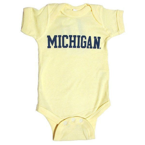 Basic Block University of Michigan Rabbit Skins Creeper - Banana