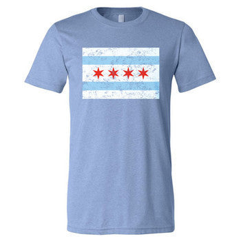 Chicago City Flag - Blue Triblend
