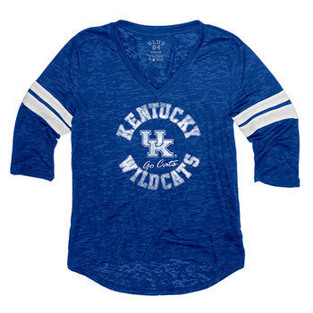 Kentucky Scrimmage Wms Burnout 3/4 Sleeve - Royal