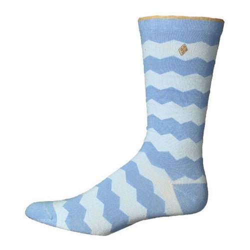 AR Large Blue Chevron Socks