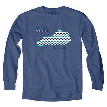 UK Statehood Overdyed Long Sleeve - Pacific Blue