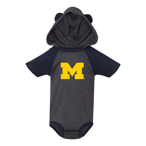Block M University of Michigan Hooded Bear Ears Creeper - Vintage Navy