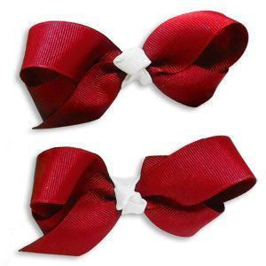 IU Hair Bow Clips - Red