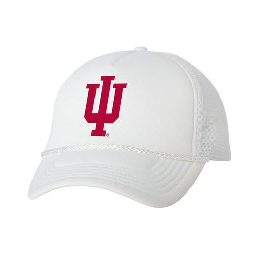 Indiana Hoosiers Foam Trucker Hat - White