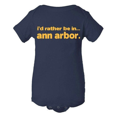 Rather Be in Ann Arbor Creeper - Navy