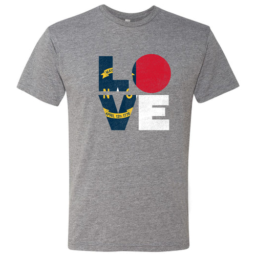 LOVE North Carolina Hurricane Relief Next Level Tee - Premium Heather