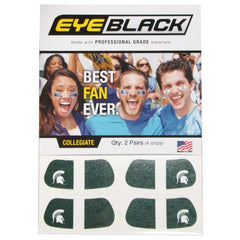 MSU Eye Black - Green Stripe
