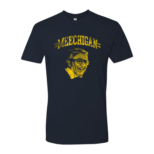 MEECHIGAN Ufer University of Michigan Next Level Premium Short Sleeve T Shirt - Navy