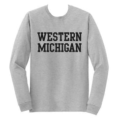 Western Michigan Basic LS Tee - Grey