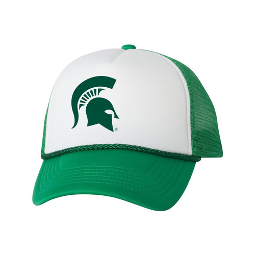 Michigan State Spartans Foam Trucker Hat - White Kelly 775a87d608a