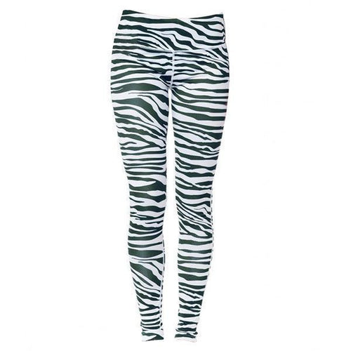 Michigan State University Spartans Team Tights Leggings - Green/White