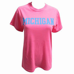 Michigan Basic S/S - Safety Pink
