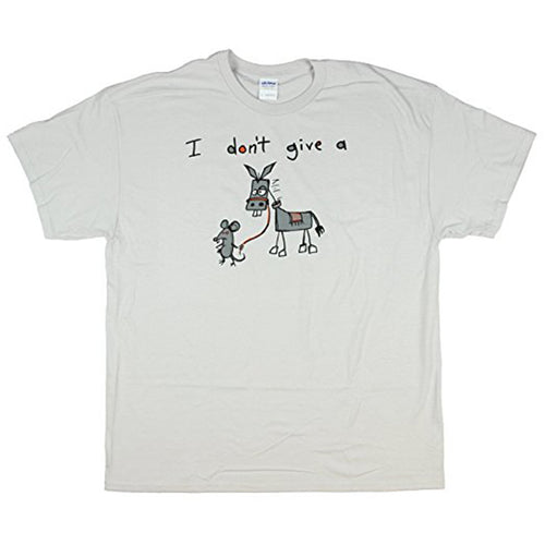 I Don't Give A Rat's - Funny, Sarcastic Graphic T-Shirt - Ice Grey