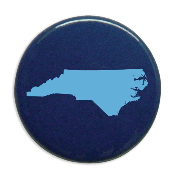 "Carolina Outline 1"" Button - C. Blue/Navy"