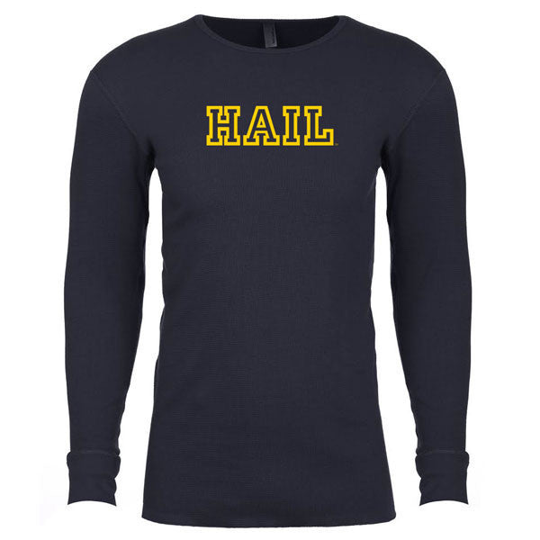 Hail Outline Long Sleeve Thermal - Midnight