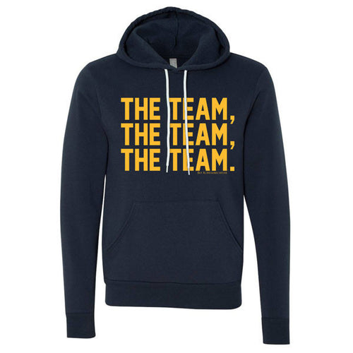 Bo Schembechler The Team The Team The Team Canvas Fleece Hoodie - Navy