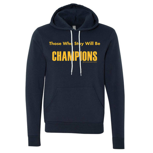 Bo Those Who Stay Canvas Fleece Hoodie - Navy