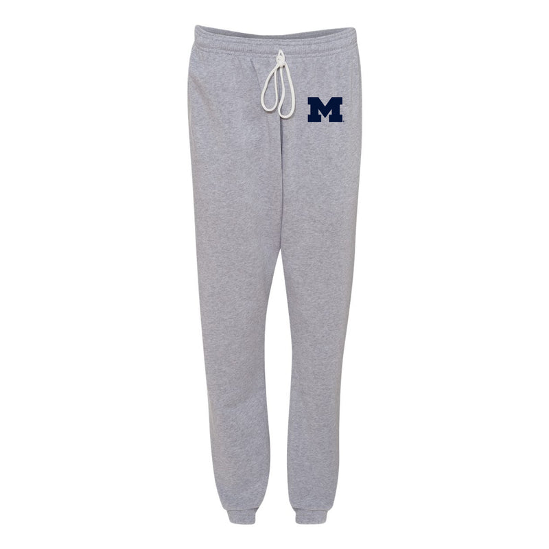 Primary Logo Michigan Bella Scrunch Fleece Pants - Athletic Heather