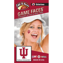 Indiana Fan-A-Peel Cheek Sticker 4-pack