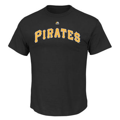 Pirates Wordmark Tee M952 - Black