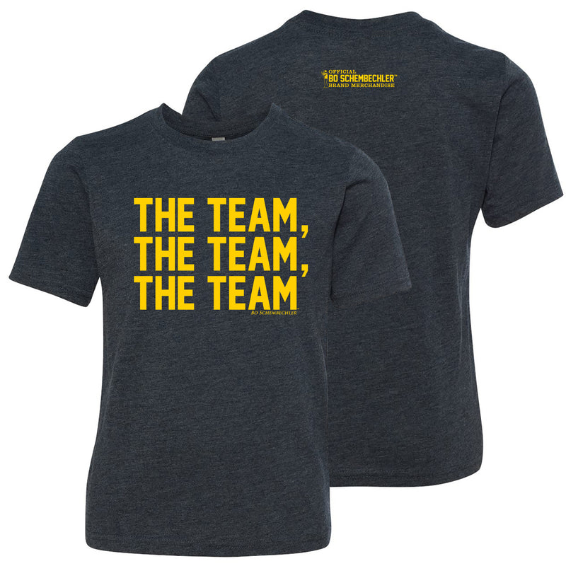 Bo Schembechler The Team Next Level Youth T-Shirt - Vintage Navy