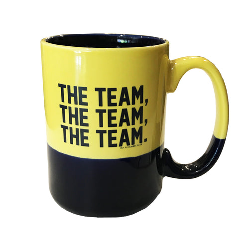 Bo Schembechler Signature The Team The Team The Team Mug - Maize/Cobalt