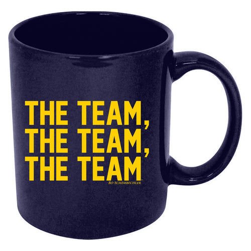 Bo Schembechler Headset The Team The Team The Team Mug - Navy