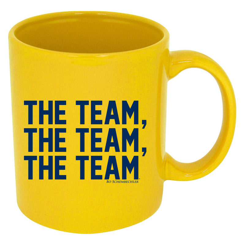 Bo Schembechler The Team, The Team, The Team Mug - Yellow