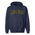 Block Arch University of Michigan Hooded Sweatshirt - Navy