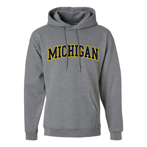 Block Arch University of Michigan Hooded Sweatshirt - Oxford