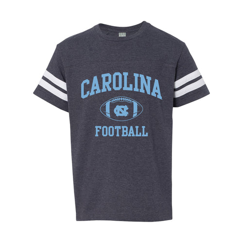 UNC Youth Football Fine Jersey Tee - Vintage Navy/ Wite