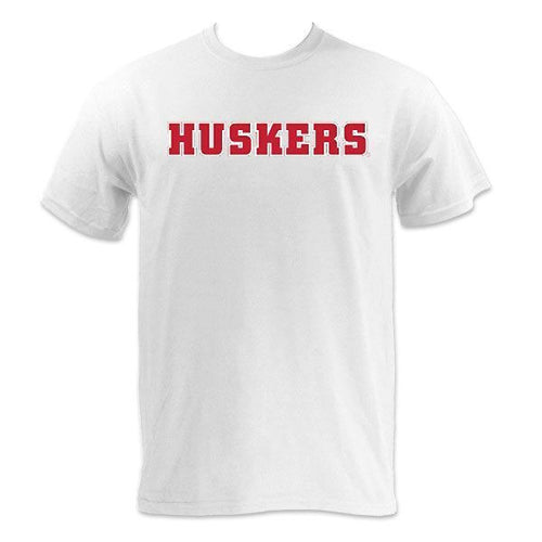 Block HUSKERS - MVS Short Sleeve - White