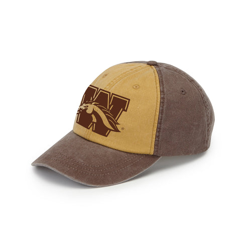 Western Michigan Hat - Espresso/Mustard