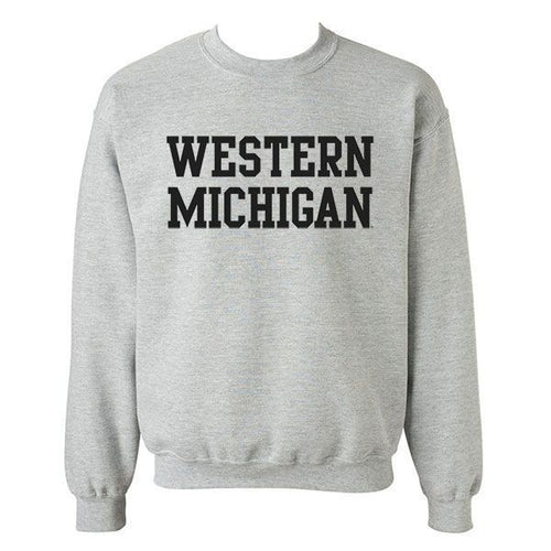 Western Michigan Basic Crew - Grey