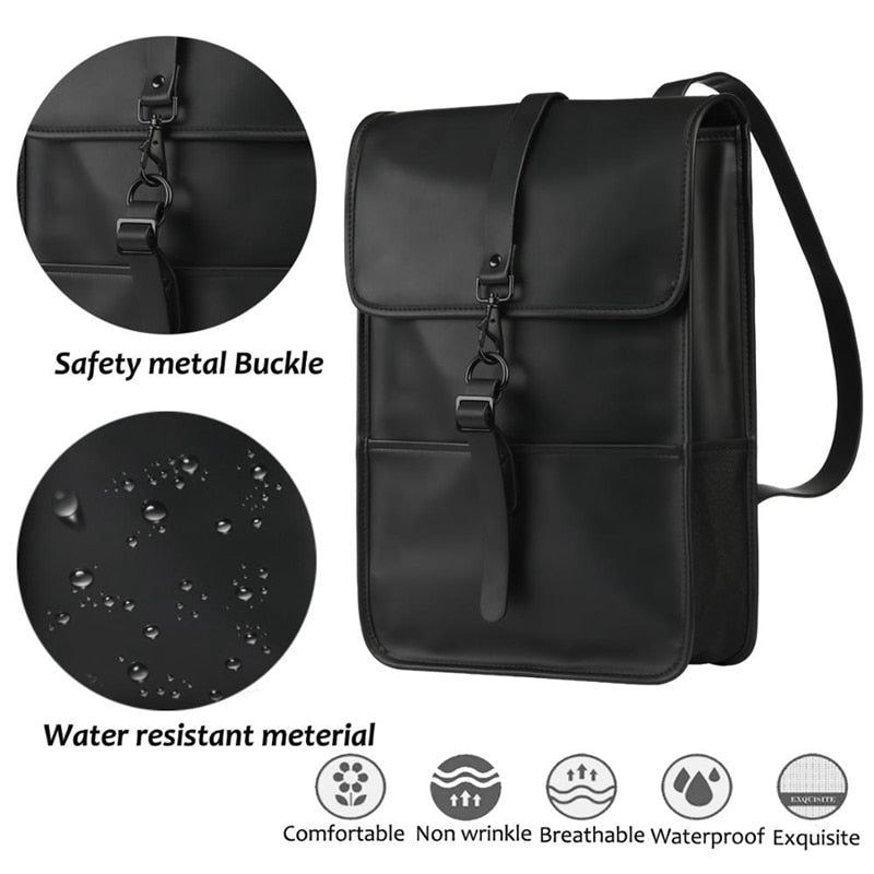 Waterproof leather backpack-Backpack-Pragmatic Travel Avenue