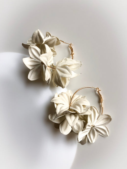 Nenufar Earrings White